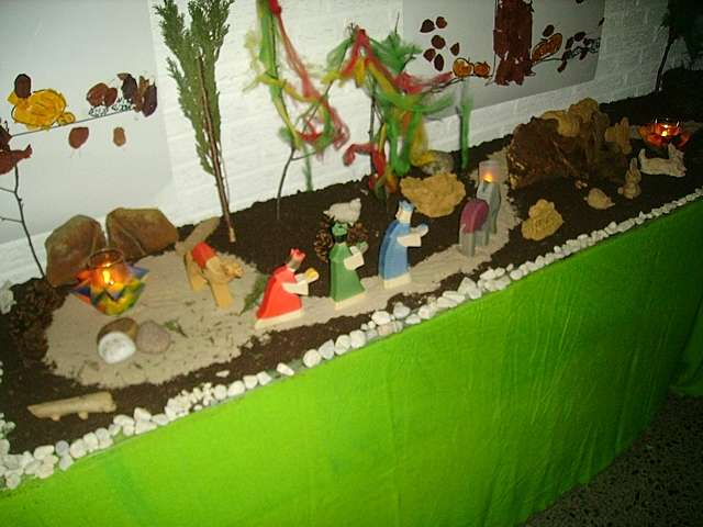Kinder Weihnachtskrippe.Weihnachtskrippe Im Kath Kindergarten 11 Von 28