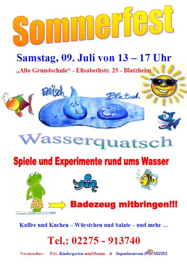 Plakat Sommerfest Domiziel 11 on Kindergarten Name Worksheets